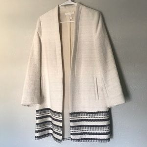 NEW H&M Cream and Black Coat- Anthropologie Style